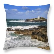 Godrevy Lighthouse - 5 Throw Pillow