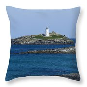 Photographs Of Cornwall Godrevy Lighthouse Throw Pillow