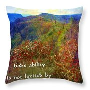 Gods Ability Throw Pillow