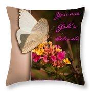 God's Beloved Throw Pillow