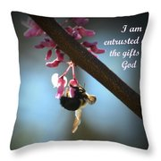God's Gifts Throw Pillow