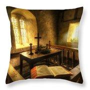 God's Holy Light Throw Pillow