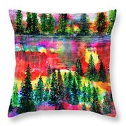God's Kaleidoscope Throw Pillow