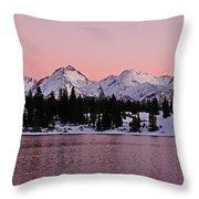 God's Light Painting At Molas Lake Throw Pillow