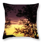 God's Painting Throw Pillow by Ella Char