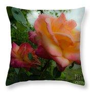 God's Roses Throw Pillow