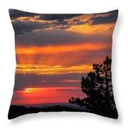 God's Spotlight Over Keystone Throw Pillow