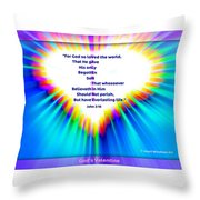 God's Valentine Throw Pillow by Kathleen Luther