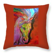 God's War Horse Throw Pillow