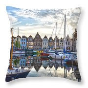Goes Harbour Throw Pillow