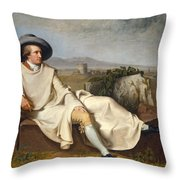 Goethe In The Roman Campagna Throw Pillow