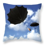 Going Down Fast And Slow Throw Pillow