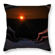Going Down Oval Image Throw Pillow