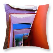 Going Downstairs Throw Pillow