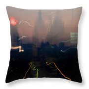 Going Downtown Throw Pillow