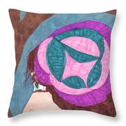 Going For A Walk Throw Pillow