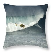 Going Left At Jaws Throw Pillow
