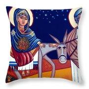 Going To Bethlehem Throw Pillow
