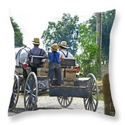 Going To Market Throw Pillow by Paul Mashburn