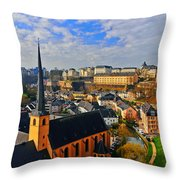 Going To Old Town Throw Pillow
