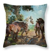 Going To Pasture Throw Pillow