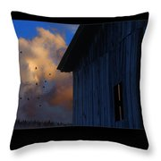 Going To Roost Throw Pillow