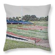 Going To The Baseball Game Digital Art Throw Pillow