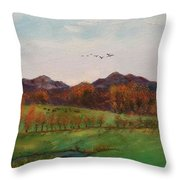 Going To The Cabin Throw Pillow