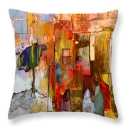 Going To The Medina In Morocco Throw Pillow
