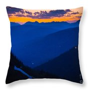 Going-to-the-sun Sunset Throw Pillow