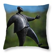 Going Uphill Fast Throw Pillow