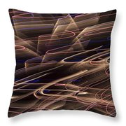Gold Abstract Lights Throw Pillow by Garry Gay