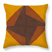 Gold And Brown Pinwheel Throw Pillow