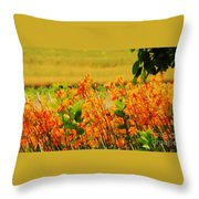 Gold And Orange Landscape Throw Pillow
