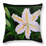 Gold Band Lily Throw Pillow