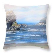 Gold Beach Oregon Throw Pillow