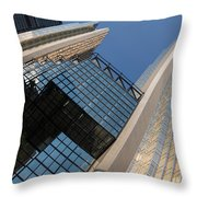 Gold Black And Blue Geometry - Royal Bank Plaza Throw Pillow