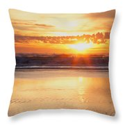 Gold Bluff Sunset Throw Pillow