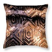 Gold Carving Throw Pillow