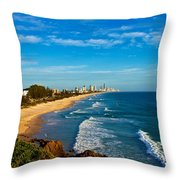 Gold Coast North Throw Pillow