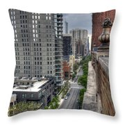 Gold Coast Rooftops Throw Pillow