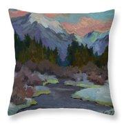 Gold Creek Snoqualmie Pass Throw Pillow