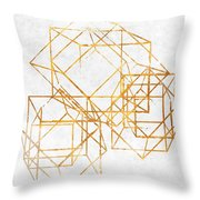 Gold Cubed II Throw Pillow