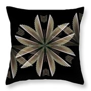 Gold Floral Abstract Throw Pillow