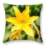 Gold Flower Throw Pillow