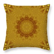 Gold Flowers Throw Pillow