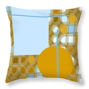 Gold Is My Wish Throw Pillow
