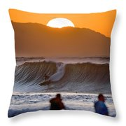 Gold Kaena Sunset Throw Pillow