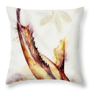 Gold Mangrove  Throw Pillow by Ashley Kujan