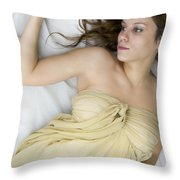 Gold Throw Pillow by Margie Hurwich